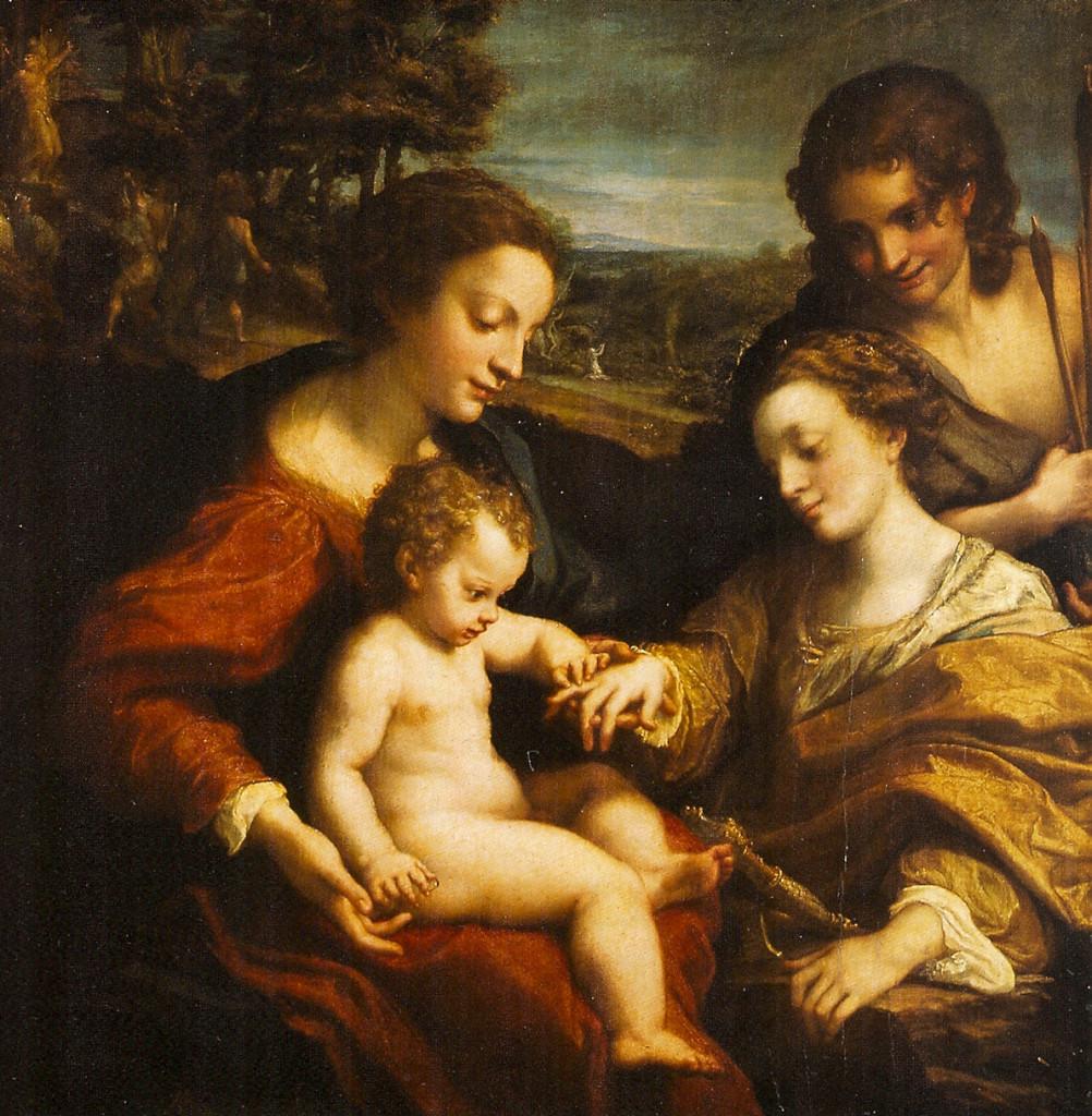 Matrimonio mistico di Santa Caterina del Correggio Louvre (per confronto)
